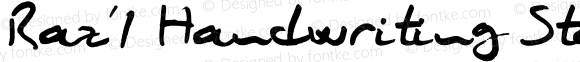 Raz'1 Handwriting Standard