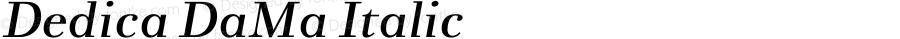 Dedica DaMa Italic 001.000