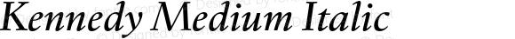 Kennedy Medium Italic