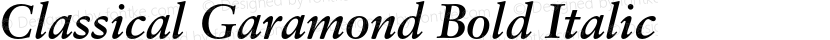 Classical Garamond Bold Italic Preview Image
