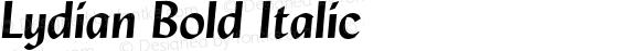 Lydian Bold Italic 003.001