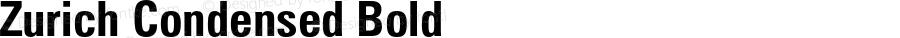 Zurich Condensed Bold 003.001