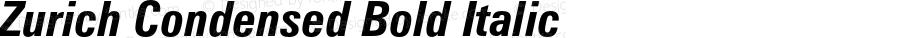 Zurich Condensed Bold Italic 003.001
