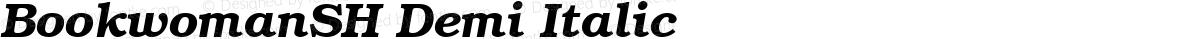 BookwomanSH Demi Italic
