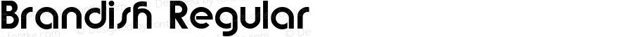 Brandish Regular Altsys Fontographer 3.5  2/8/93