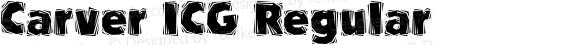 Carver ICG Regular Altsys Fontographer 4.1 18/09/95