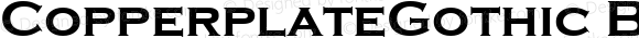 CopperplateGothic Bold Altsys Fontographer 3.5  9/10/93