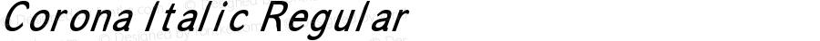 Corona Italic Regular Version 2.0 - 18 Nov 1998
