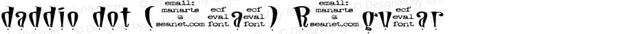 daddio dot (eval) Regular daddio dot (eval), ecf #1842e, v1.0  5/21/97