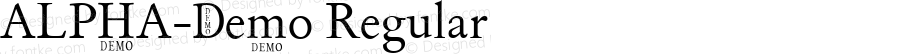 ALPHA-Demo Regular Version 9.000 2007 initial release