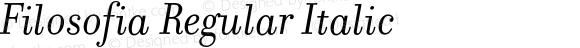 Filosofia Regular Italic
