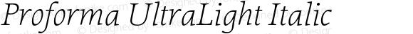 Proforma UltraLight Italic