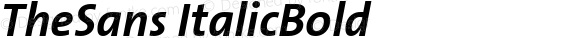 TheSans ItalicBold Version 1.00