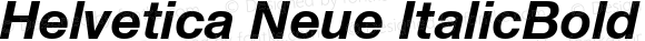 Helvetica Neue ItalicBold