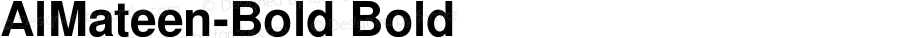AlMateen-Bold Bold Version 1; May 20, 2003