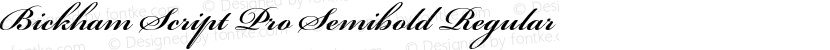 Bickham Script Pro Semibold Regular Preview Image