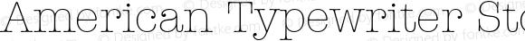 American Typewriter Std Lt Regular Version 2.020;PS 002.000;hotconv 1.0.50;makeotf.lib2.0.16970