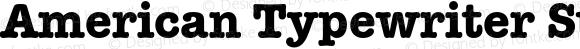 American Typewriter Std Med Bold Version 2.020;PS 002.000;hotconv 1.0.50;makeotf.lib2.0.16970