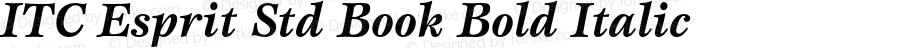 ITC Esprit Std Book Bold Italic Version 2.031;PS 002.000;hotconv 1.0.50;makeotf.lib2.0.16970