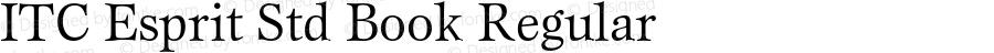 ITC Esprit Std Book Regular Version 2.031;PS 002.000;hotconv 1.0.50;makeotf.lib2.0.16970