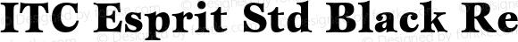 ITC Esprit Std Black Regular Version 2.031;PS 002.000;hotconv 1.0.50;makeotf.lib2.0.16970