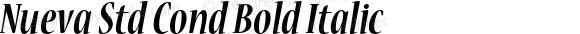 Nueva Std Cond Bold Italic Version 2.036;PS 002.000;hotconv 1.0.50;makeotf.lib2.0.16970