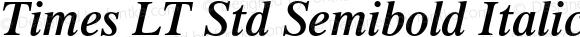 Times LT Std Semibold Italic Version 2.050;PS 002.000;hotconv 1.0.51;makeotf.lib2.0.18671
