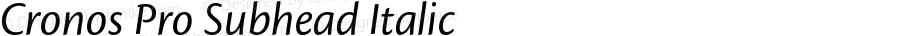 Cronos Pro Subhead Italic Version 2.040;PS 002.000;hotconv 1.0.51;makeotf.lib2.0.18671