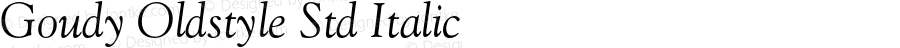 Goudy Oldstyle Std Italic Version 2.025;PS 002.000;hotconv 1.0.51;makeotf.lib2.0.18671