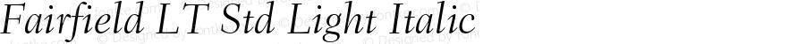 Fairfield LT Std Light Italic Version 2.040;PS 002.000;hotconv 1.0.51;makeotf.lib2.0.18671