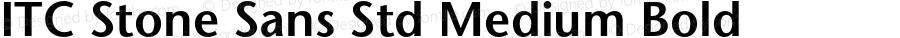 ITC Stone Sans Std Medium Bold Version 2.041;PS 002.000;hotconv 1.0.51;makeotf.lib2.0.18671