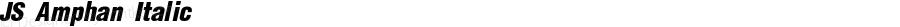 JS Amphan Italic Version 1.1; 2001