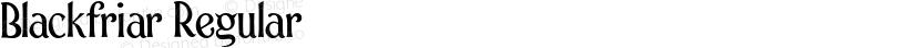 Blackfriar Regular Preview Image