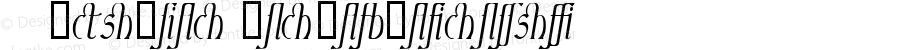 Ambrosia ItalicLigature Macromedia Fontographer 4.1.4 8/1/98