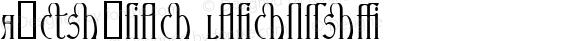 Ambrosia Ligature Macromedia Fontographer 4.1.4 7/30/98