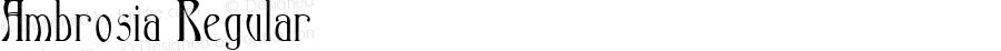 Ambrosia Regular Macromedia Fontographer 4.1.4 5/18/98