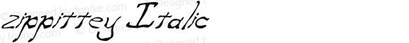 zippittey Italic Version 001.000
