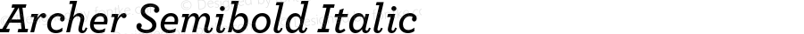 Archer Semibold Italic Version 1.200 Pro
