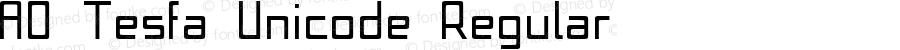 A0 Tesfa Unicode Regular Version 1.000