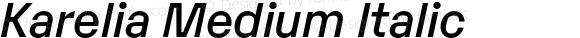 Karelia Medium Italic