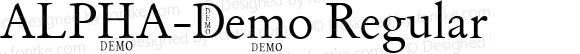 ALPHA-Demo Regular