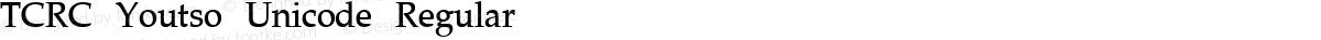 TCRC Youtso Unicode Regular