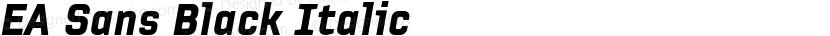 EA Sans Black Italic Preview Image