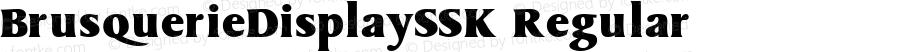 BrusquerieDisplaySSK Regular Macromedia Fontographer 4.1 7/27/95