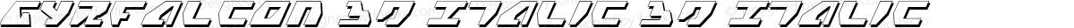 Gyrfalcon 3D Italic 3D Italic