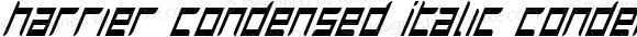 Harrier Condensed Italic Condensed Italic