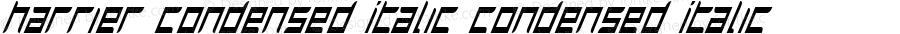 Harrier Condensed Italic