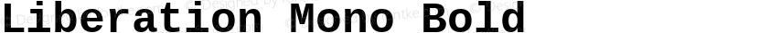 Liberation Mono Bold Preview Image