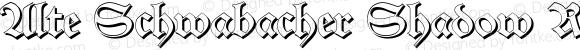Alte Schwabacher Shadow Regular Version 2.1; 2001
