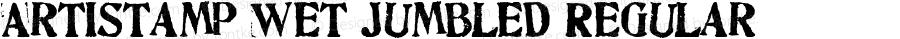 Artistamp Wet Jumbled Regular Macromedia Fontographer 4.1.3 11/13/04